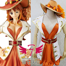 One Piece Cosplay Nami Cosplay Costume 15th Anniversary Nami Cosplay Costume with hat