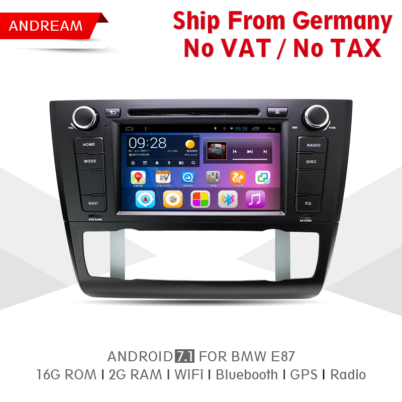 Quad Core 2G RAM 16G ROM Car DVD Player Stereo Android 7.1 Navigation BT For BMW E87 Free ship Steering Wheel Control EW806P7QH