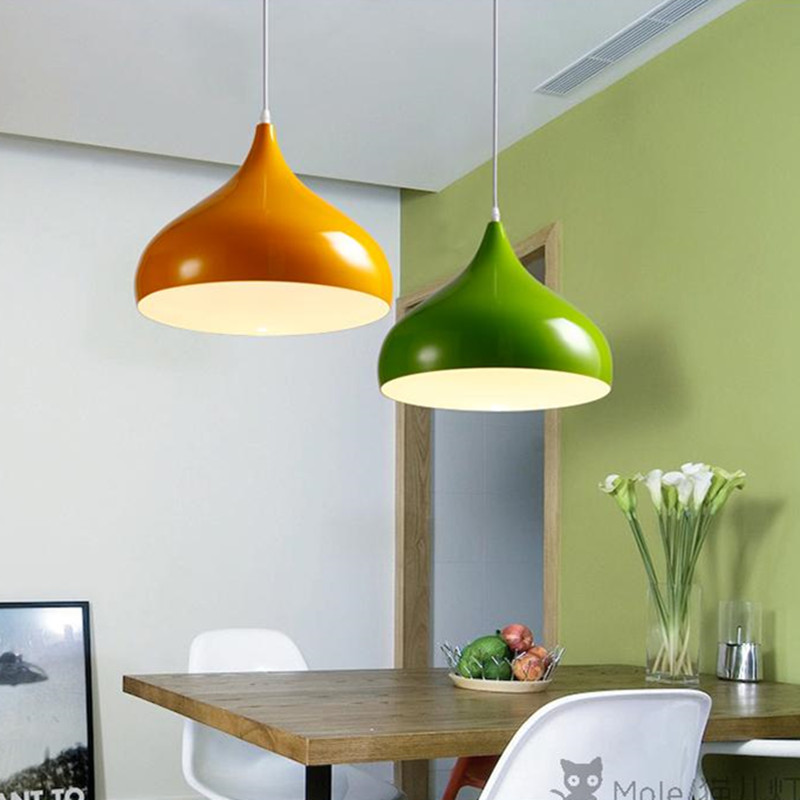 Colors Pendant Lights Kitchen Island lamps Modern Ceiling Lamp ...