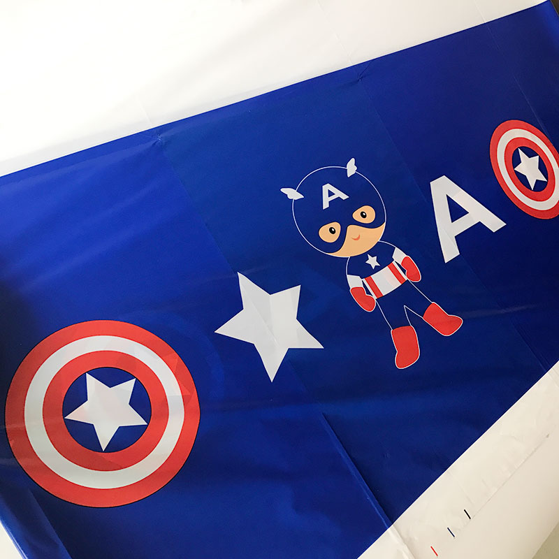 captain america theme disposable tablecloths birthday party decorations kids baby shower. Black Bedroom Furniture Sets. Home Design Ideas