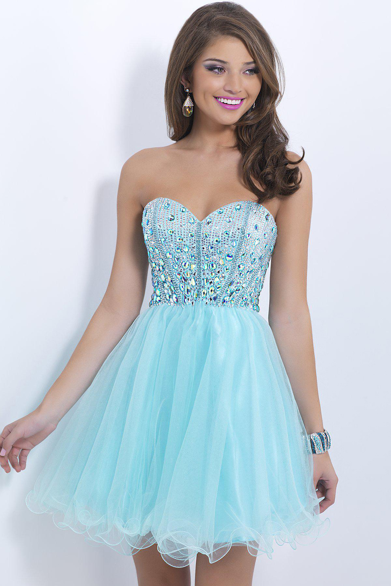 Popular Light Blue Homecoming Dresses-Buy Cheap Light Blue ...