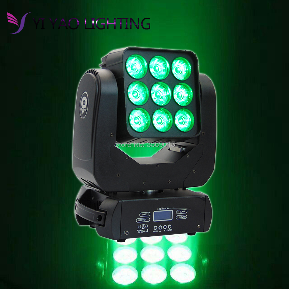 9x12w 4in1 Led Moving Head Matrix Light For Stage Party KTV DJ