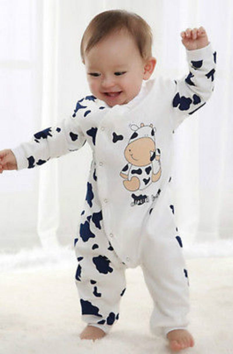 Cartoon Animal Cute Warm Baby Kids Pajamas Romper Newborn Infant Baby Boy Girl Cute Body suit Romper Long Sleeve Jumpsuit Outfit hhtu 2017 new infant baby girl boys sleep clothing set children cute cartoon pajamas suit newborn kids soft cotton underwear