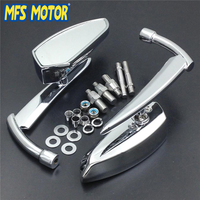 Spear Blade Universal Fit 8mm 10mm Thread Motorcycle Rearview Mirrors For Suzuki Intruder Volusia Boulevard All Cruiser Chrome