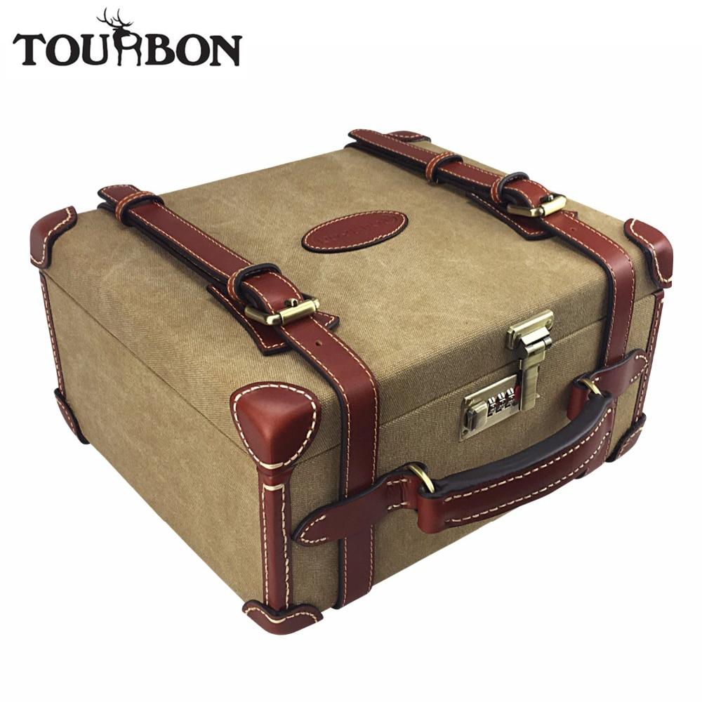 Tourbon Hunting Vintage Platno Ammo Školjke Torbica za Skladištenje Snimanje Metlica Spremnik streljiva Nosač Prtljažnik Pribor