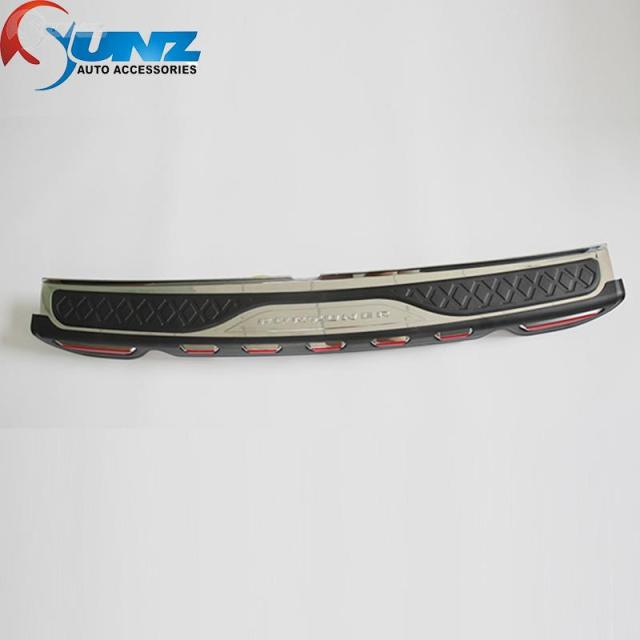 Rear Bumper Step For Toyota Fortuner Accessories Rear Step Trim For Toyota Fortuner SUV 2012 2013 2014 Ycsunz