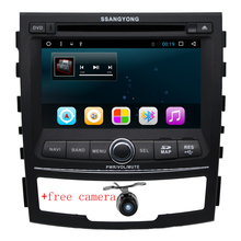 Quad core Android 6.0 2 din car dvd player for SsangYong Korando 2010 2011 2012 2013 cassette player car raido stereo gps WIFI