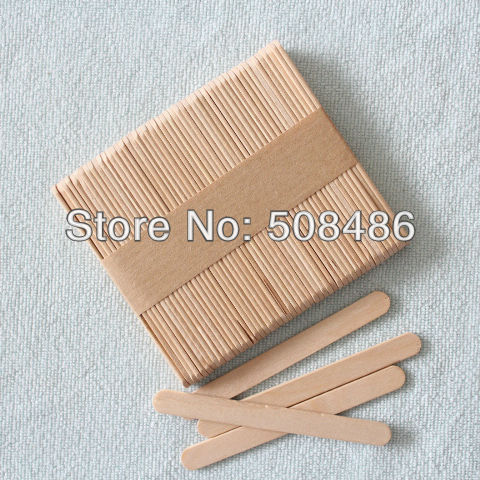 Free Shipping Wooden Popsicle Sticks | DIY Craft Tool | Wooden Spatula | Ice Cream Stick | size 93*10*2 mm