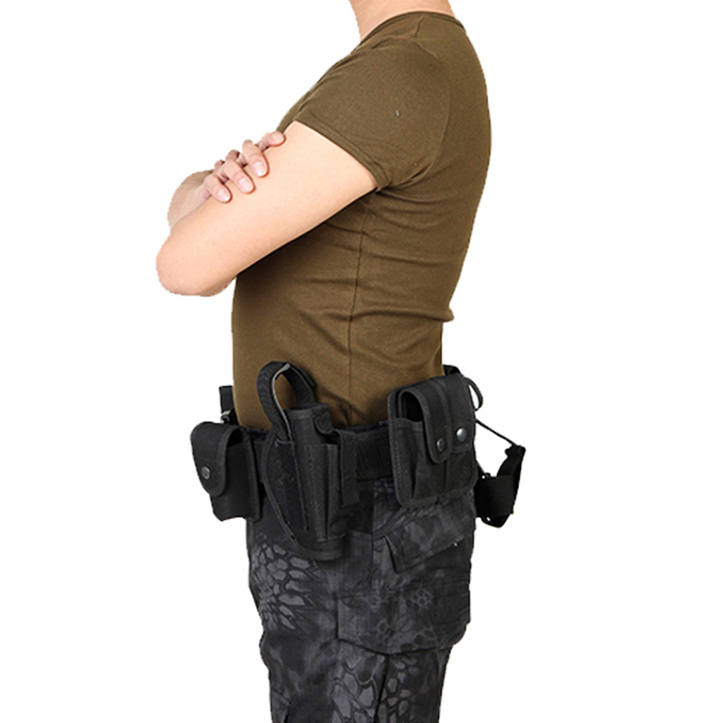 Image 3 - Utility Belt Waist Bag Pouch Mens Security Police Guard Patrol Kit with Radio Holster Tools for outdoorMens Belts   -