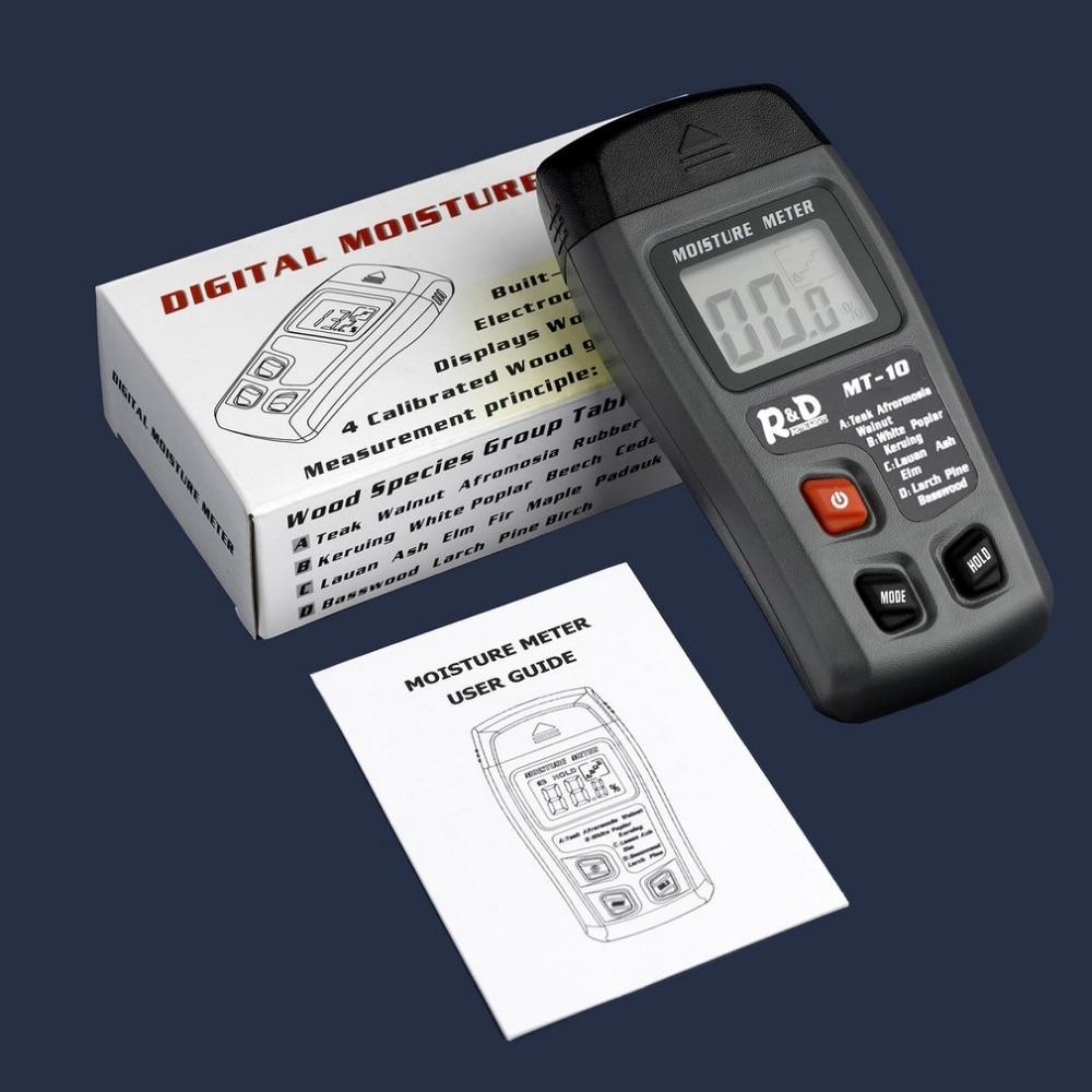 Mt 10 Lcd Digital Holz Feuchtigkeit Meter Tragbare Handheld Holz