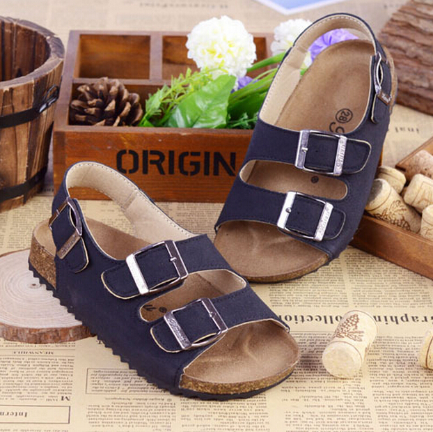 4371804ebe US $13.8 |New 2015 Brand Children BIRKENSTOCK Cork Sandals Summer Kids  Shoes Genuine Leather Boys Girls Sandals, Children Shoes-in Sandals from  Mother ...
