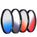 Zomei 49mm Slim Graduated Grey Blue Orange Red Lens Filter Kit for Canon Nikon Free shipping