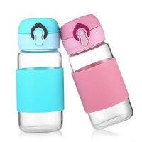 300ml Glass Water Bottle Leakproof My Bottle For Water Drinker BPA Free Hiking Sport Tumbler With