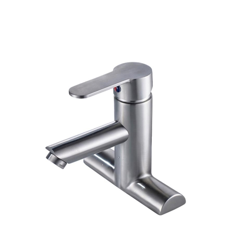 304 Stainless Steel Bathroom Sink Tap Deck Mount Lavatory Faucets Hot and Cold Torneira Brush Basin Faucets304 Stainless Steel Bathroom Sink Tap Deck Mount Lavatory Faucets Hot and Cold Torneira Brush Basin Faucets