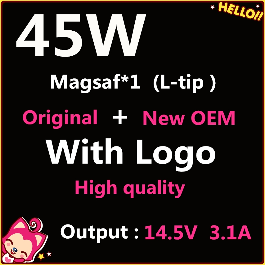 New magsaf* 45W 14.5V 3.1A With L tip, Laptop Power Adapter Charger For Apple MacbooK Air 11
