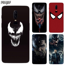 Luxury Soft TPU Silicone Phone Back Case For OnePlus 5 5T 6T 6 Frosted Fundas Printed Cover Venom Marvel