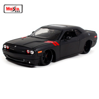Maisto 1:24 2008 dodge chanllenger rt cool black car diecast model luxury vintage toy car model for men gift motorcar diecast