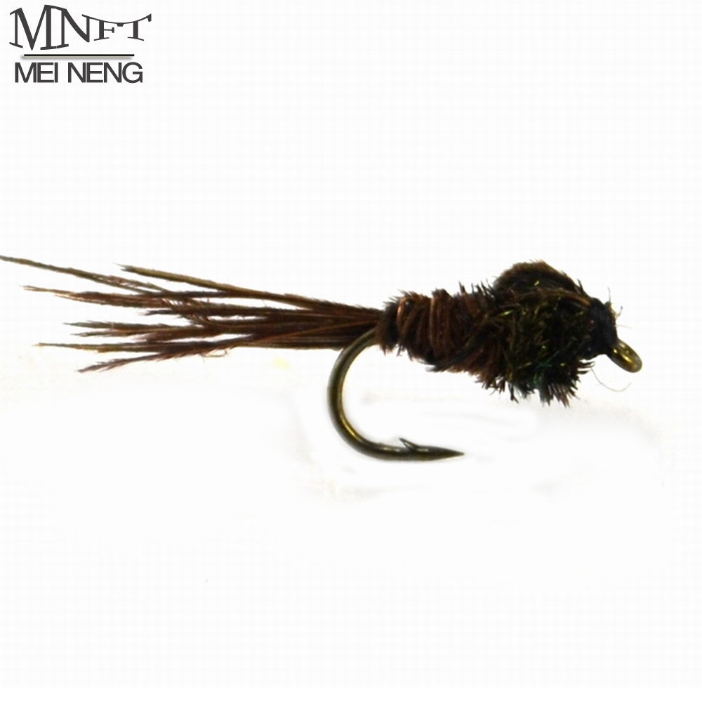 MNFT 10PCS [ 14 # ] Brown Tail Olive Prince Caddis Mayfly Nymph Dry Flies Fly Fishing Patterns 10pcs beadhead pm caddis 14 nymphs dry fly fishing trout flies