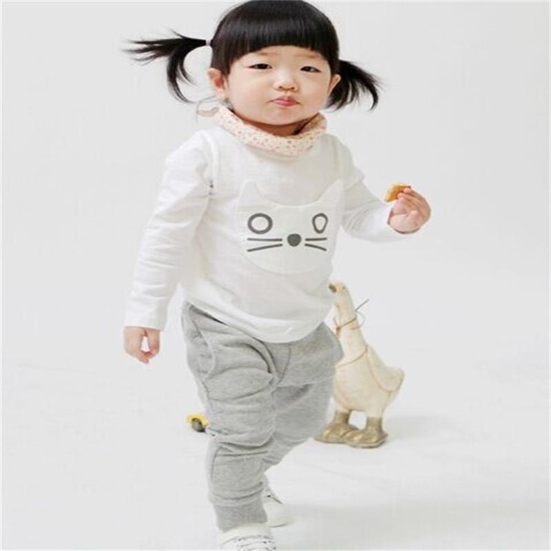 spring and autumn kids clothing boys girls harem pants cotton owl trousers baby fashion