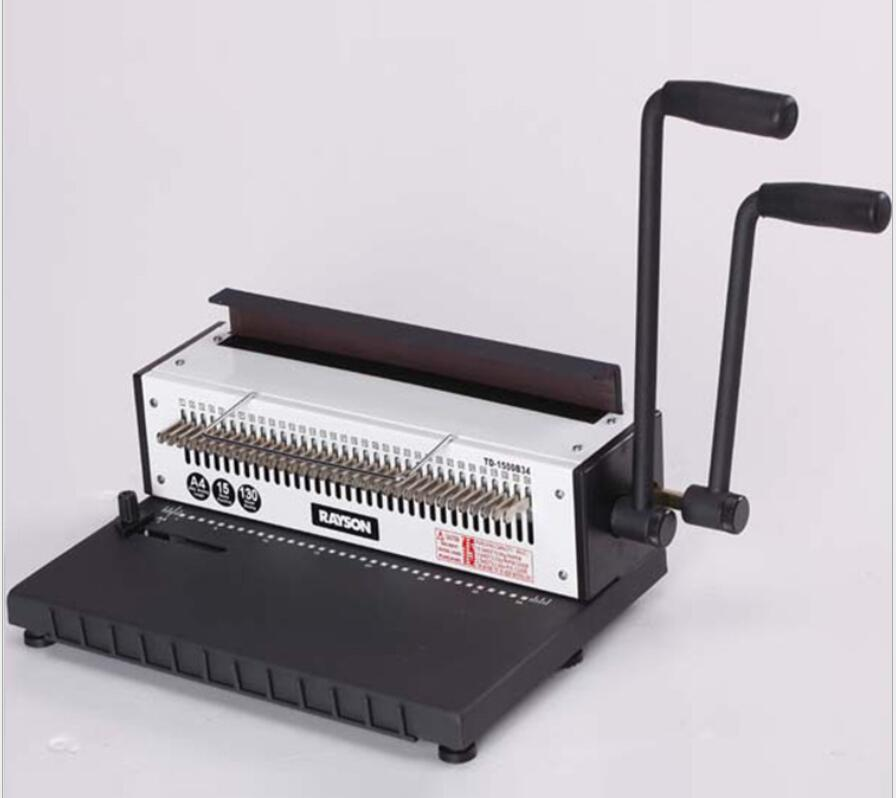 Manua Double handle A4 Wire binding machine TD-1500B 34 hole Iron ring binding machine, file menu, picture album, punch machine 1pc brand new and high quality paper cutting punch combination punching hole pattern in three file binding machine