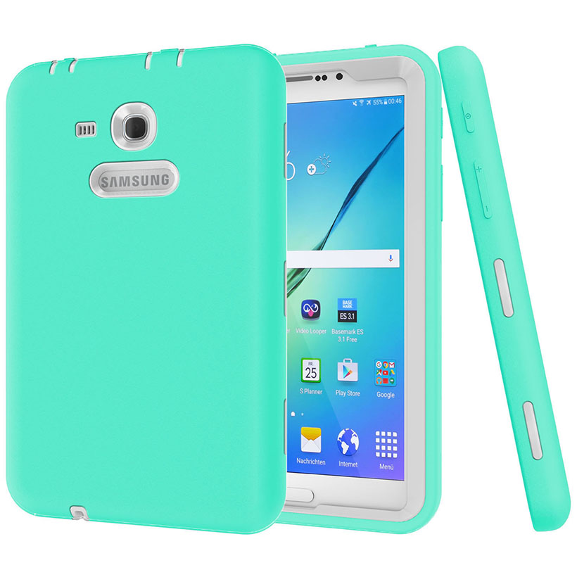 New Cover For Samsung Galaxy Tab 3 Lite 7 0 Case Kids Safe Heavy Duty Shockproof Silicone Sm T110 T111 T113 T116 In Tablets E Books