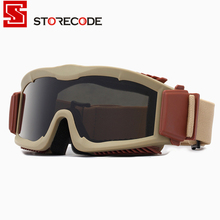 Military Airsoft Safety Glasses Combat  Army Sunglasses 3 Interchangeable Anti-Fog Tactical Goggles Shooting Eyewear Gafas RK6