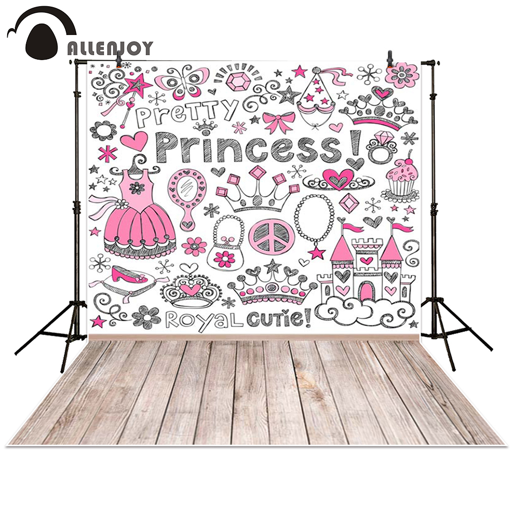 Allenjoy photography backdrop pink Cartoon princess board birthday baby shower children background photo studio photocall 300cm 200cm about 10ft 6 5ft fundo harp moonlight candles3d baby photography backdrop background lk 1859