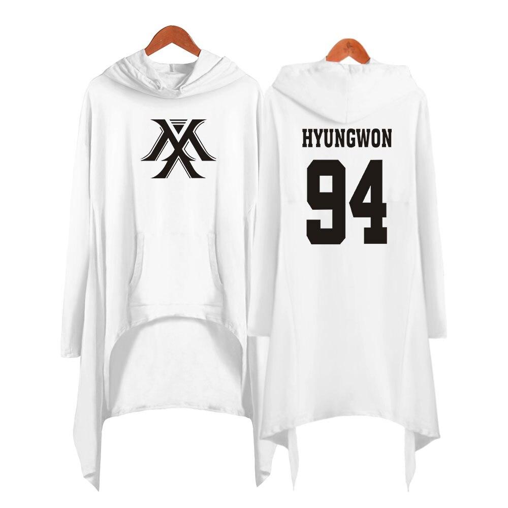 Image 3 - Drop shopping Monsta x dress fashion 2019 women Hooded sweatshirt Monsta x kpop clothes pullover-in Hoodies & Sweatshirts from Women's Clothing