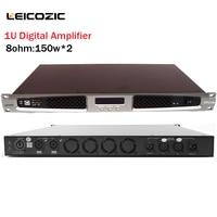 Leicozic 500W bridge Power Stereo Amplifier 1U Rack Mount Amp Lightweight Class D Professional Power Amplifier for stage concert