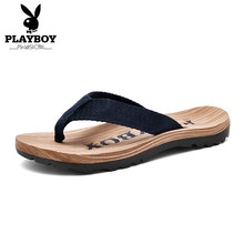 PLAYBOY New Casual Slippers Men Comfortable Summer Slides Size 38-44 New Fashion Man Indoor Outside Shoes(China)
