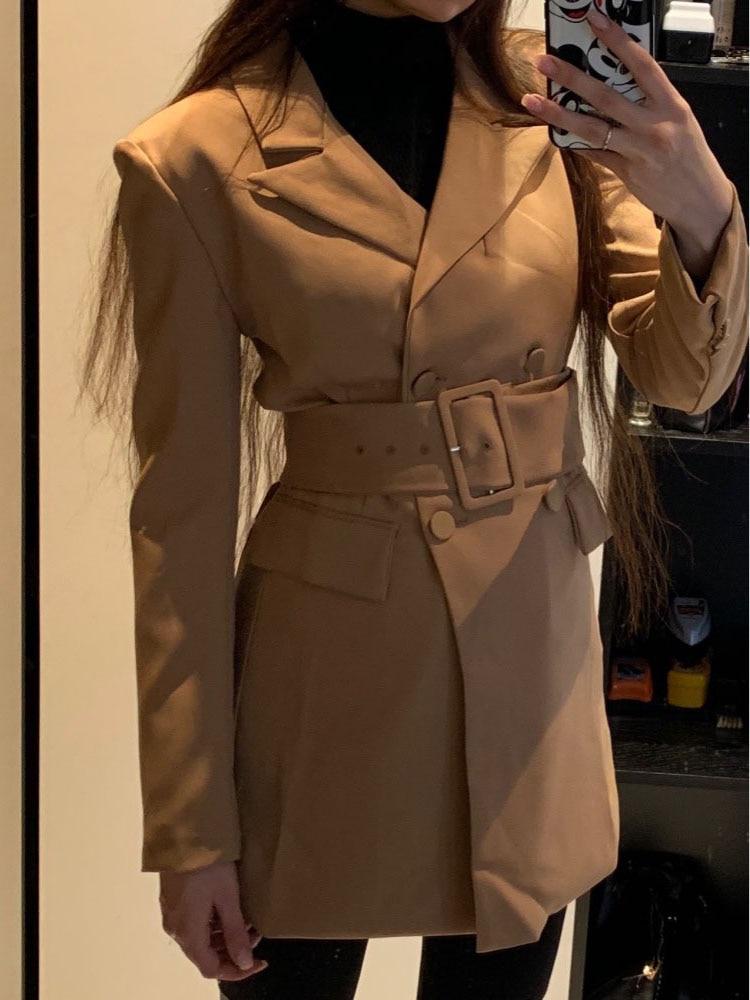 Basic Jacken Jacken & Mäntel Trendmarkierung Mode Za 2019 Frauen Khaki Casual Frühling Herbst Jacke Weibliche Elegante Einstellbare Taille Mit Gürtel Langarm Casaco Feminino Online Shop