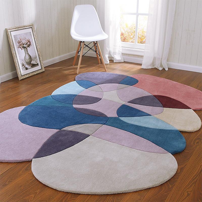 Высокое качество необычный журнальный столик для гостиной ковер геометрический акриловые ковры для гостиной коврики для спальни ручной работы - Цвет: 2