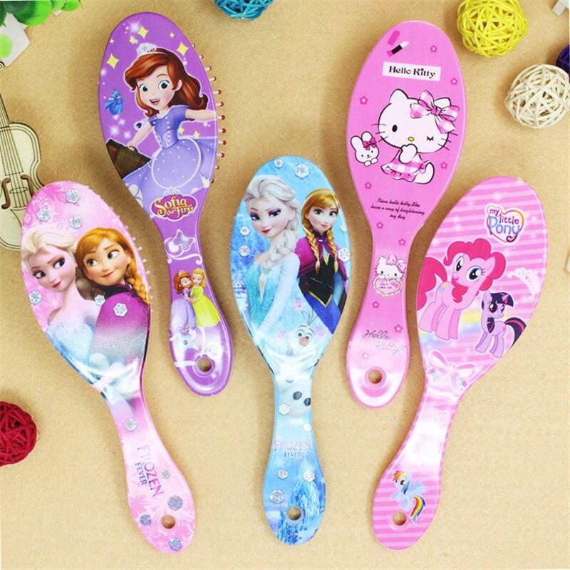 Cartoon frozen child air cushion comb lovely Curly Hair Brush Combs Gentle Anti-static Brush Tangle Wet & Dry Bristles расческа wet brush wet brush we018lwzxw97