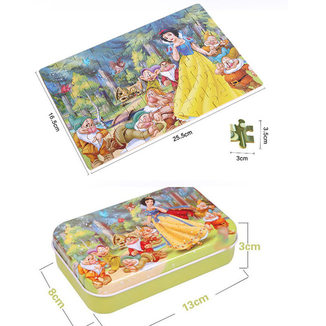 Cartoon 3D Puzzle with Iron Box for Children