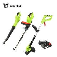 Cheap price DEKO 3 In 1 20V 2000mAh Li-ion Battery Cordless Grass Trimmer Hedge Trimmer and Leaf Blower Garden Tool Set