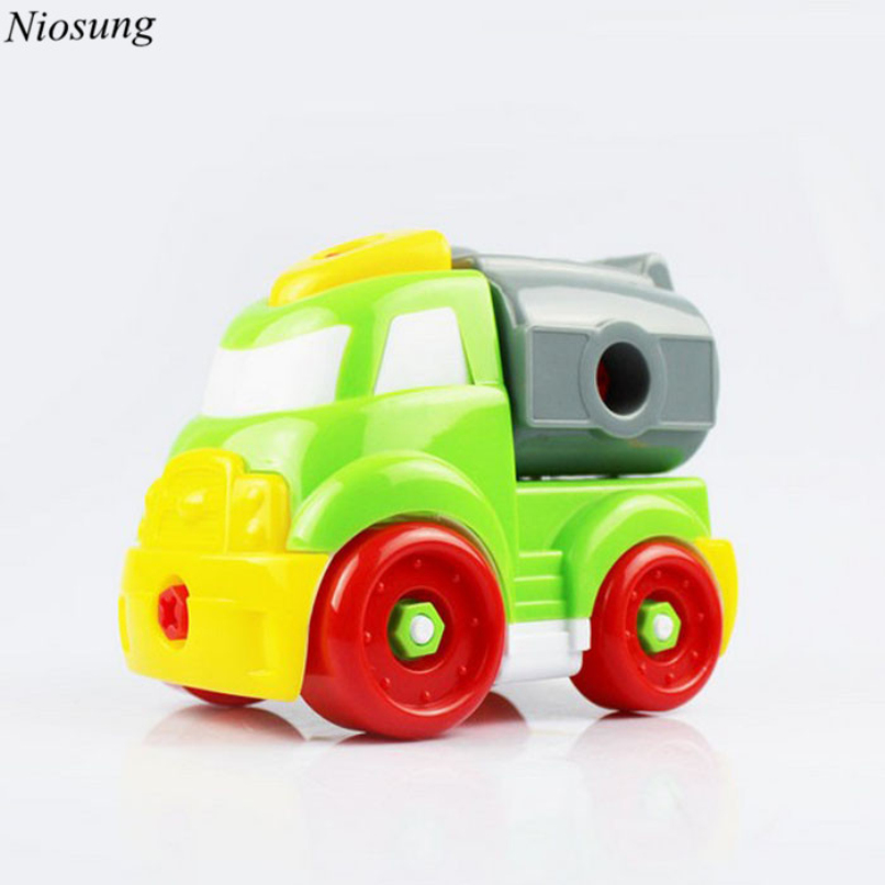 New Christmas Gift Kid Child Baby Disassembly Assembly Cartoon Puzzle Car Toy