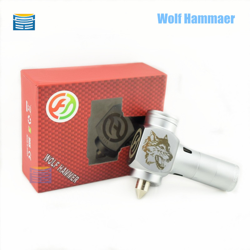 Wolf Hammer Mechanical Mod E pipe DIY vaporizer for TTY Plume Veil RBA atomizer vape 18650