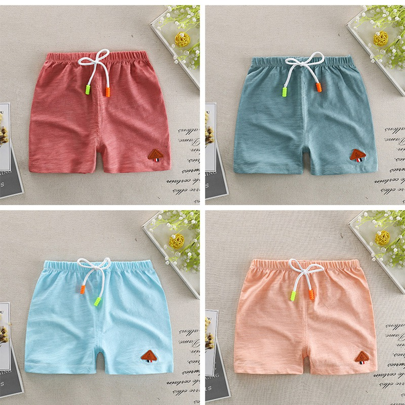 Baby Shorts Bamboo Cotton Pure Color Boy Shorts Summer New Children\'s Pants Boys And Girls Beach Pants For 0-4T