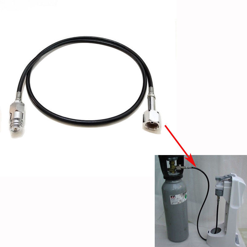 "60"" SodaStream Soda Maker Club External Hose & Adapter Kit to CGA320 or DIN477/W21.8 CO2 Tank"