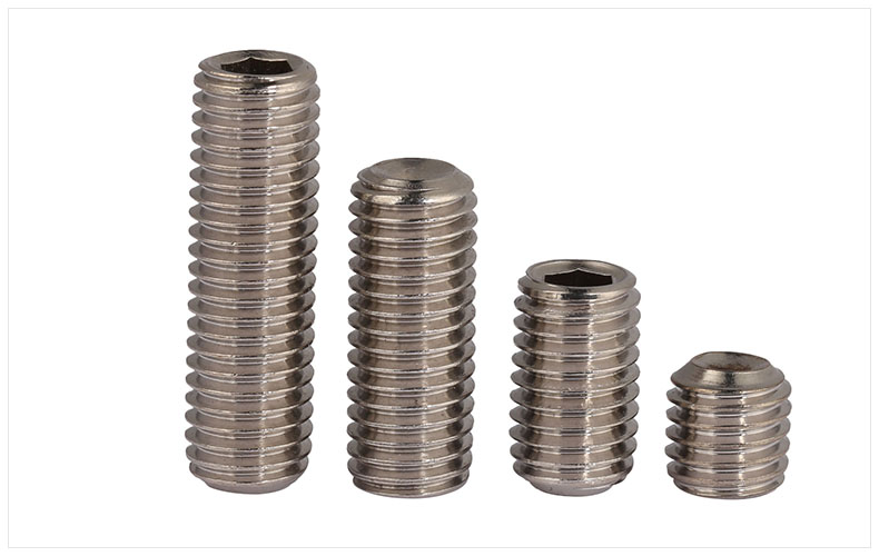 DIN916 316 stainless steel concave set screws hex socket Chimi screws M3 M4 M5 M6 M8 M10 screw headless Top wire machine screw 20pcs m3 6 m3 x 6mm aluminum anodized hex socket button head screw