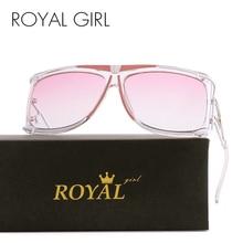 ROYAL GIRL 2017 New Vintage Men Brand Designer Sunglasses Vintage Oversize Sun glasses Metal Frame Oculos Glasses ss390 2017 new vintage designer 100