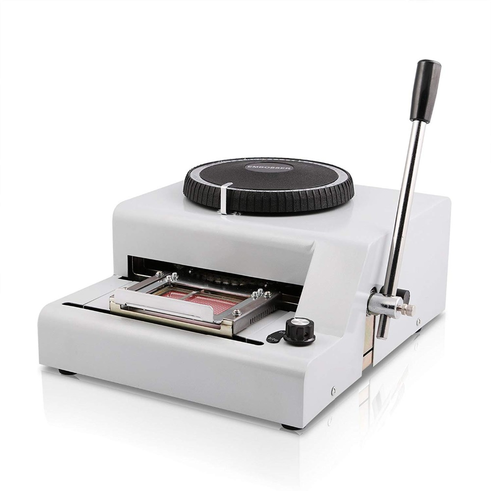Superland Embosser 72 Character Card Embossing Machine For PVC Gift Card VIP ID Membership Stamping Embossing (72 Charac