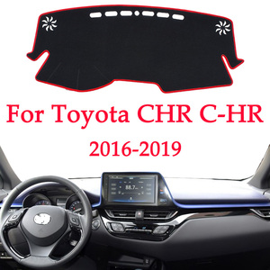 Image 1 - Car dashboard avoid light pad instrument platform Desk Cover Mats Carpets For Toyota CHR C HR C HR 2016 2017 2018 2019 Automotiv