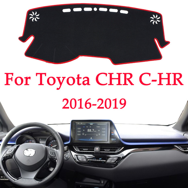 Car dashboard avoid light pad instrument platform Desk Cover Mats Carpets For Toyota CHR C HR C HR 2016 2017 2018 2019 Automotiv