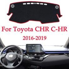 Tapetes para salpicadero de coche, alfombrilla para evitar luz, plataforma de instrumentos, cubierta de escritorio, alfombras para Toyota CHR C HR C HR 2016 2017 2018 2019 automotriz