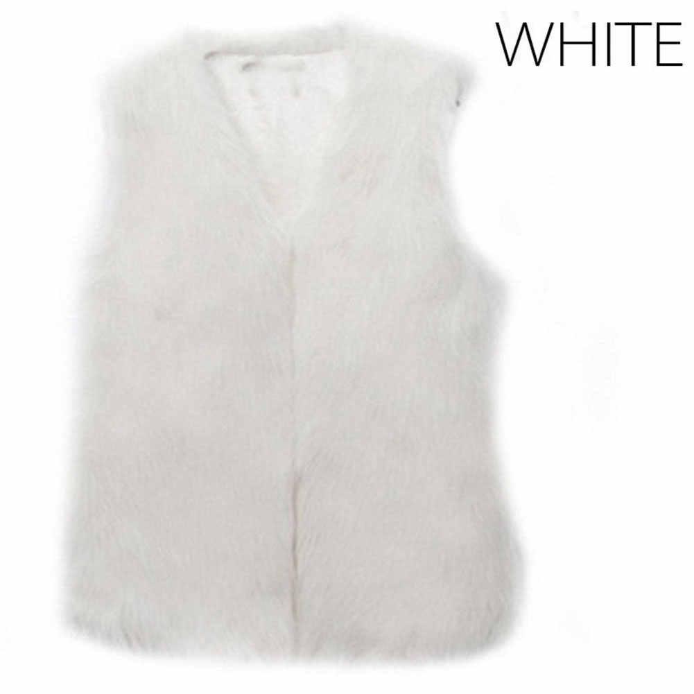 Недавно осень-зима Для женщин меховой жилет теплый искусственный Лисий короткая куртка жилеты меха пальто леди Повседневное наружная одежда жилет S-3XL