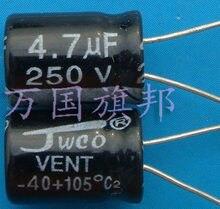 Entrega gratuita. Toda a série de alta e baixa tensão do capacitor eletrolítico 250 v 4.7 UF 4.7 UF