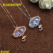 KJJEAXCMY fine jewelry s925 silver color jewelry natural moonstone pendants to send necklaces ab natural quality goods color ice stone bracelet send certificates send jewelry box