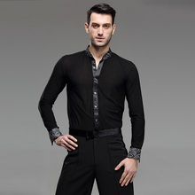 and summer dance pavilion square dance acrobatics long sleeved adult men s shirts GB modern