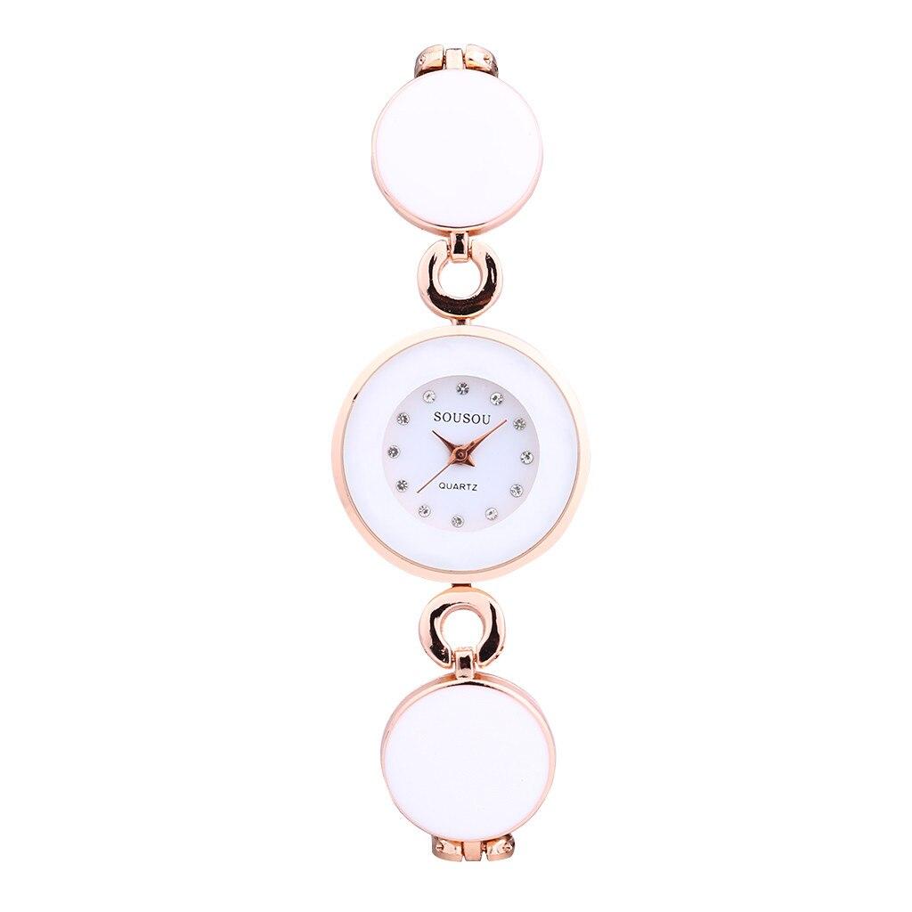 Women's Watch Crystal Bracelet Stainless Steel Quartz Wrist Watch Ladies Disc Wrist Watch Women Fashion Relogio Feminin Clock